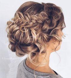 Wedding Hairstyles : Featured Hairstyle: Ulyana Aster; www.ulyanaaster.com; Wedding hairstyle idea.