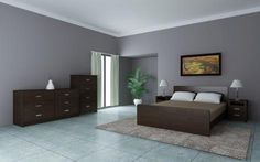 LAZY 5 PIECES BEDROOM SUITE - CHOCOLATE HTDLFBS366