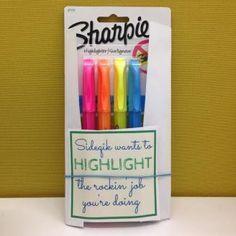 Fun office culture | Marketing platform Sideqik Startup culture encouragement of employees | free printable | Highlight the rockin job | teacher gifts |