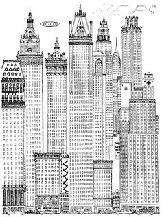 artist - osbert lancaster - a cartoon history of architecture