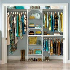 ClosetMaid SuiteSymphony 84 W 120 W Closet System Reach In Closet, Closet Space, Drawers In Closet, Small Closets, Dream Closets, Closet Ideas For Small Spaces Bedroom, Small Walk In Closet Ideas, Diy Walk In Closet, Small Closet Storage