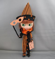 Pattern for Blythe Halloween costumes by KristineAnns on Etsy, $8.00