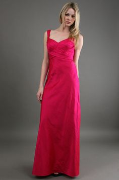 The Wrap Front Gown Fuschia by Phoebe Couture at CoutureCandy.com