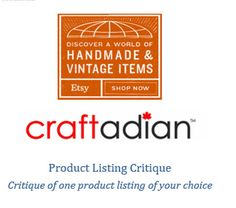 Product Listing Critique Mini Critiques Etsy Shop by craftadian Mini, Ontario, Shop Now, Vintage Items, Etsy Shop, Teaching, Trending Outfits, Handmade Gifts, Shopping