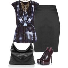 Sin título #5781 by marlilu on Polyvore featuring polyvore, fashion, style, Yves Saint Laurent and DANNIJO