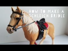 How To Make A Schleich Bridle! | Daisy Stalls - YouTube Horse Harness, Horse Bridle, Horse Stables, Schleich Horses Stable, Breyer Horses, Horse Mask, Diy Accessoires, Horse Accessories, Hobby Horse
