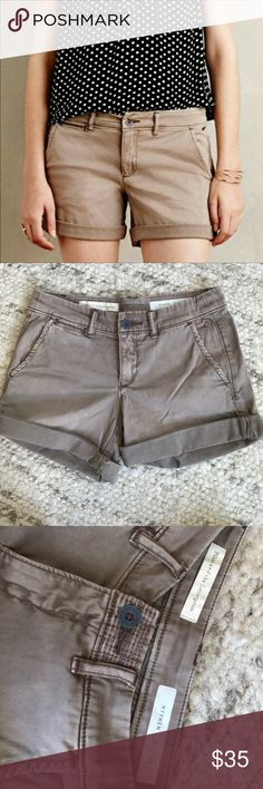 Anthropologists pilcro hyphen chino shorts | 24 Great shorts in great condition! Just a little snug for me. Taupe. Anthropologie Shorts