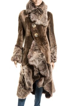 Artico Bridget Reversible Shearling Coat in Fawn | Shearling coat ...