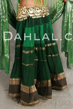 Dahlal Internationale Store - TIERED GRADIENT SKIRT OF VINTAGE SARI FABRIC, for Belly Dancing, $39.95 (https://www.dahlal.com/tiered-gradient-skirt-of-vintage-sari-fabric-for-belly-dancing/)