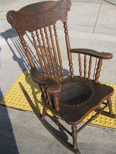 Attrayant Antique Rocking Chairs | UHURU FURNITURE U0026 COLLECTIBLES: SOLD   Antique  Rocking Chair   $40