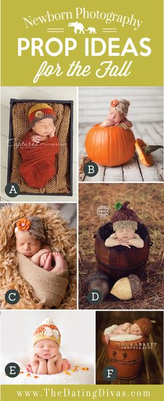 Adorable Newborn Photography Prop Ideas for the Fall