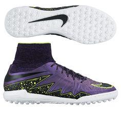 Nike HypervenomX Proximo TF Turf Soccer Shoes (Hyper Grape/Black/Court  Purple/Volt)