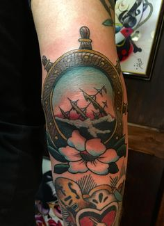 a27efbd16 Sailor's Grave Elbow Tattoo. Elbow TattoosNice TattoosBrian KellySailors Traditional ...