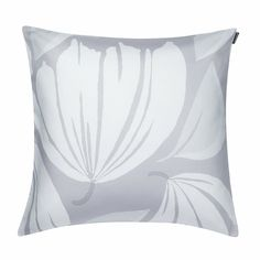Marimekko Ananaskirsikka Grey/White Throw Pillow - Click to enlarge