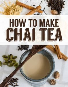 You'll need: black peppercorns, whole cinnamon sticks, ground ginger, cardamom pods, whole cloves, and whole nutmeg to make your chai masala...