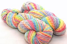 Mystical Rainbow on Twisted Worsted Merino by DiscoBabyKnits