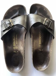 Birkenstock Birkis sandals Size Condition is Pre-owned with some scuffs dirt marks. Birkenstock, Flip Flops, Disney, Accessories, Shoes, Ebay, Fashion, Sandals, Zapatos