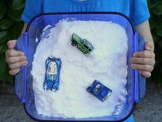 Vinegar-Free Fizzy Car Rescue ~ simple science and lots of fun play