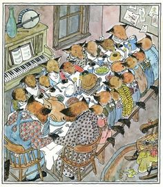 Illustrations by Wendy Watson for Father Fox's Pennyrhymes (by Clyde Watson, her brother).