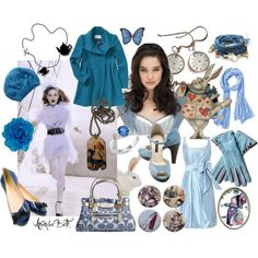 Alice in Wonderland fashion concept.