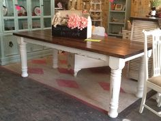 Hey, I found this really awesome Etsy listing at https://www.etsy.com/listing/253879795/turned-leg-farmhouse-table-chunky-leg