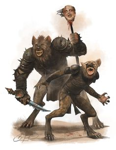 Gnolls by simon buckroyd by Binoched on deviantART