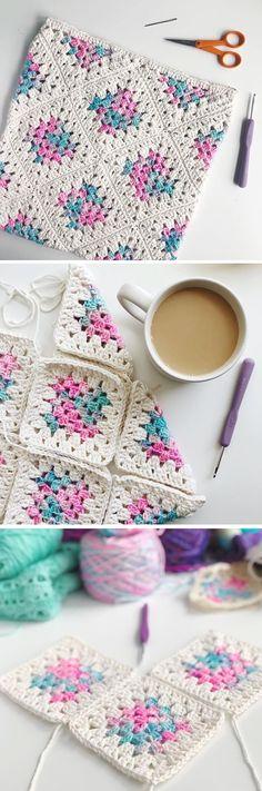 Crochet Square Blanket/Bag – Handmade paris