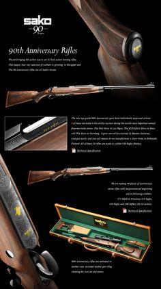 Sako 90th Anniversary Rifle - 30.06 Big Game Hunting, Hunting Rifles, Shotguns, Firearms, Tikka Rifle, Man Gear, Lever Action Rifles, Rifle Sling, Fire Powers