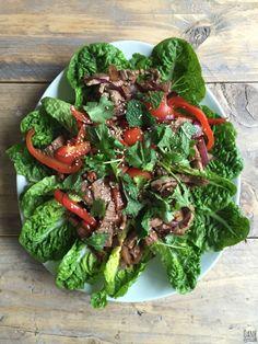 Overheerlijke Vietnamese biefstuk salade