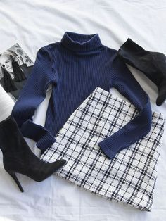vibes 🥂🖤 Search: Not So Clueless Skirt Shop Priceless ✨ - Kleidung Mode Outfits, Skirt Outfits, Trendy Outfits, Black Outfits, Look Fashion, Teen Fashion, Fashion Outfits, Clueless Fashion, Womens Fashion