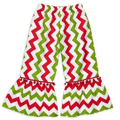 Cute girls Christmas Chevron pants! #iloverileyblake