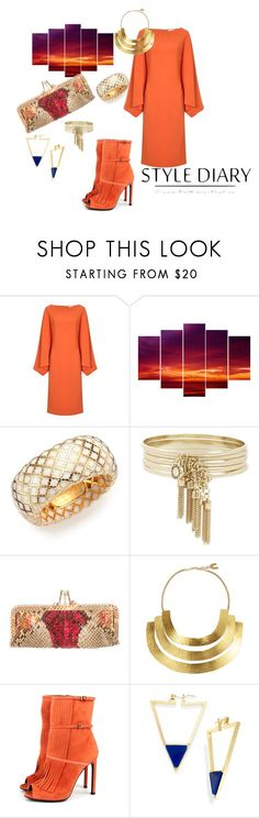 """""""#Horizontal promise"""" by charity-blossom on Polyvore featuring Osman, Gucci, BCBGeneration, Christian Louboutin, Hervé Van Der Straeten and Bar III"""