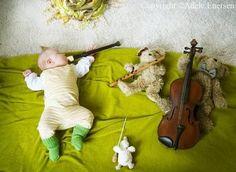 sleeping baby band concert