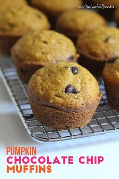Pumpkin Chocolate Chip Muffins (Freezer-Friendly!). YUM.