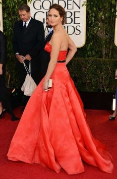 Jennifer Lawrence in Dior Couture at the 70th Annual Golden Globes Sunday, January 13, 2013