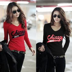 $6.8 for Women long sleeve autumn tops tees