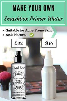 diy smashbox primer water / makeup setting spray makeup primer DIY: Make Your Own Smashbox Primer Water - Makeup Primer, Makeup Dupes, Beauty Makeup, Beauty Tips, Beauty Care, Makeup Brushes, Beauty Hacks, Smash Box Primer, Natural Beauty Products