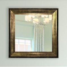 """House of Hampton Lustrous Square Wall Mirror Size: 40.5"""" H x 40.5"""" W x 1.13"""" D"""