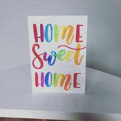 Paint Cards, Sweet Home, Hand Painted, House Beautiful
