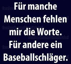 #worte vs. baseballschläger