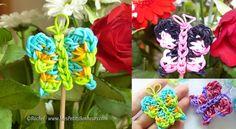 Papillon en élastiques Rainbow Loom - Tuto niveau intermédiaire