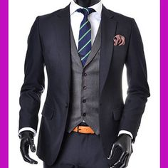 navy suits for a wedding | -NAVY-men-s-suit-sale-slim-fit-prom-suits-tuxedos-wedding-party-suits - Right suit, wrong tie ...