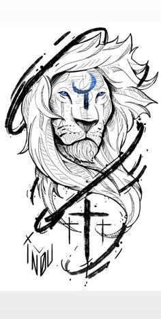 Small Back Tattoos, Full Arm Tattoos, Sleeve Tattoos, Sketch Tattoo Design, Tattoo Sketches, Tattoo Drawings, Family Tattoo Designs, Tattoo Designs Men, Lion Head Tattoos