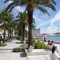 The Riva in Split at the Adriatic coast in Croatia REPIN TO YOUR OWN INSPIRATION BOARD