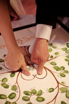 Olive branch wedding decor