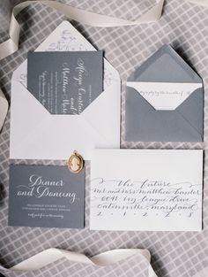 Lovely Grey Wedding Invitations