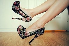 My two favorite things... High heels and flowers!!!! would totally rock these!