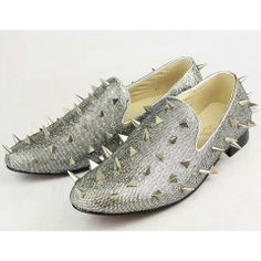 Christian Louboutin Zapato de barco plata