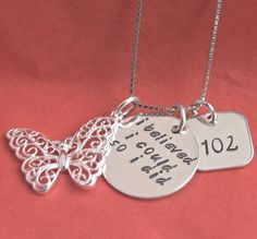 Success Hand Stamped Personalized Necklace by JessieGirlJewelry, $64.00