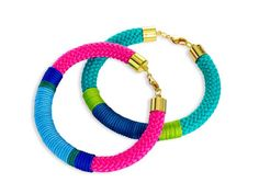 7 fun #DIY #gifts for the #holidays like bright rope bracelets #hgtvmagazine // http://www.hgtv.com/design/make-and-celebrate/handmade/7-fun-diy-gifts-for-the-holidays-pictures?soc=pinterest